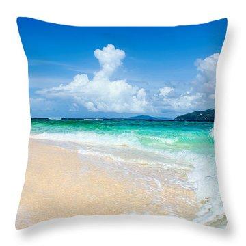 Sandy Spit Bvi Throw Pillow