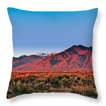 Sangre De Cristos Xxxi Throw Pillow