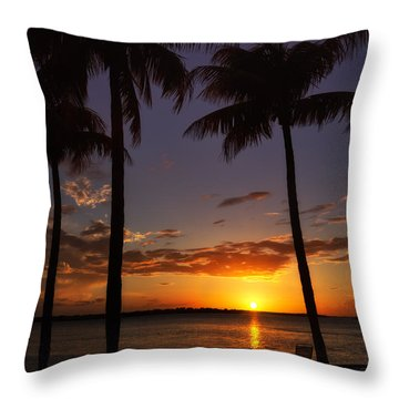 Sanibel Island Sunset Throw Pillow