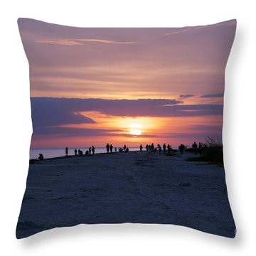 Throw Pillow featuring the photograph Sanibel Sunset #1 by Sandy Molinaro