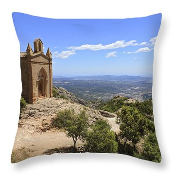 Sant Joan Chapel Spain Throw Pillow