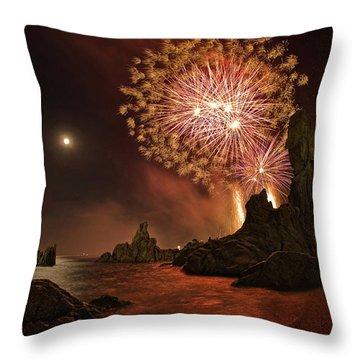 Fireworks Throw Pillows