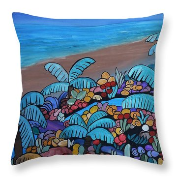 Santa Barbara Beach Throw Pillow