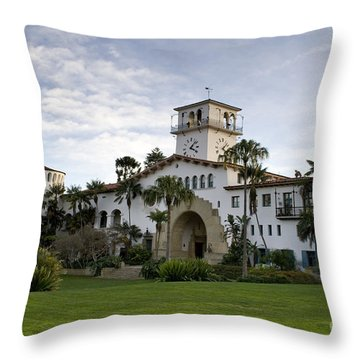 Santa Barbara Throw Pillow by David Millenheft