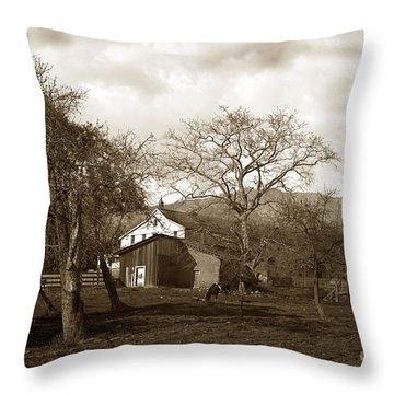 Santa Barbara Mission California Circa 1890 Throw Pillow