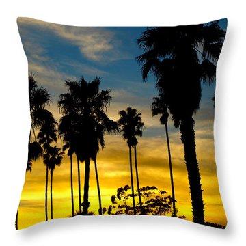 Santa Barbara Sunset Throw Pillow