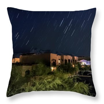 Throw Pillow featuring the photograph Santa Catalina Mountain Startrails by Dan McManus