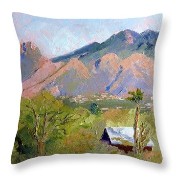 Santa Catalinas Throw Pillow by Susan Woodward