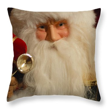 Santa Claus - Antique Ornament - 17 Throw Pillow by Jill Reger