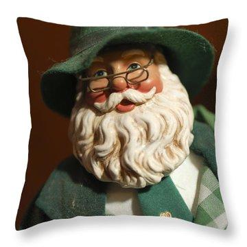 Santa Claus - Antique Ornament - 23 Throw Pillow by Jill Reger