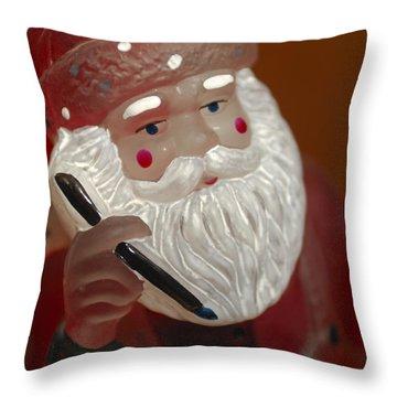 Santa Claus - Antique Ornament - 24 Throw Pillow by Jill Reger