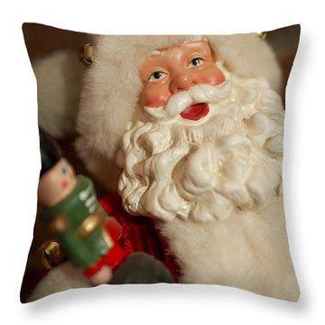 Santa Claus - Antique Ornament - 25 Throw Pillow by Jill Reger