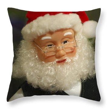 Santa Claus - Antique Ornament - 30 Throw Pillow by Jill Reger