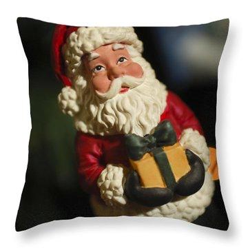 Santa Claus - Antique Ornament - 31 Throw Pillow by Jill Reger