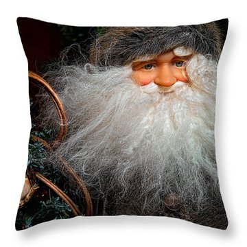 Santa Claus Throw Pillow by Christopher Holmes