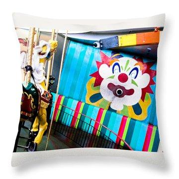 Throw Pillow featuring the photograph Santa Cruz Boardwalk Carousel by Shane Kelly