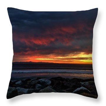 Throw Pillow featuring the photograph Santa Cruz Rocks by Michael Gordon