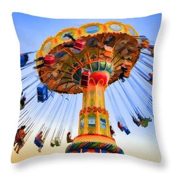 Santa Cruz Seaswing At Sunset 6 Painterly Throw Pillow