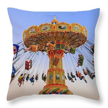 Santa Cruz Seaswing At Sunset 8 Throw Pillow