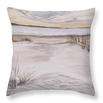 Throw Pillow featuring the painting Santa Cruz Sunset by Ian Donley