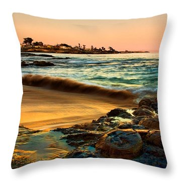 Santa Cruz Sunset Throw Pillow