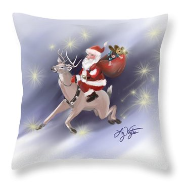 Santa Delivers Throw Pillow