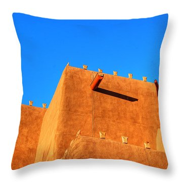 Santa Fe Adobe Throw Pillow