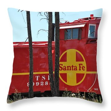 Santa Fe Caboose Throw Pillow