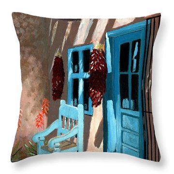 Santa Fe Courtyard Throw Pillow
