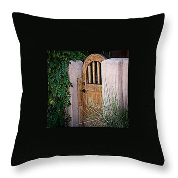 Santa Fe Gate Throw Pillow