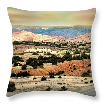 A Girl From New York Throw Pillow