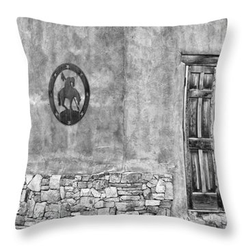 Throw Pillow featuring the photograph Santa Fe New Mexico Street Corner by Ron White
