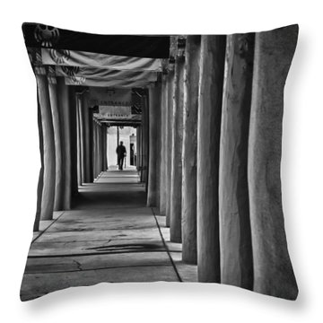 Throw Pillow featuring the photograph Santa Fe New Mexico Walkway by Ron White