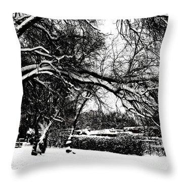 Santa Fe Snow Day Throw Pillow