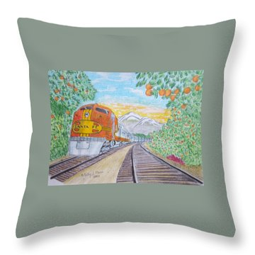 Santa Fe Super Chief Train Throw Pillow