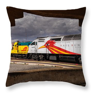 Santa Fe Train Throw Pillow