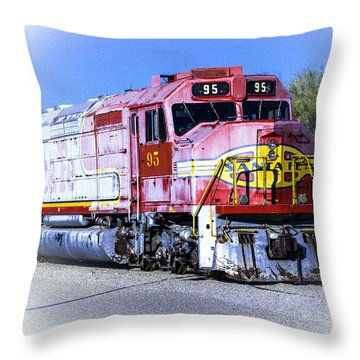 Santa Fe Train No-95 Throw Pillow by William Havle