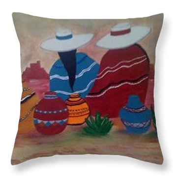 Santa Fe Women Throw Pillow