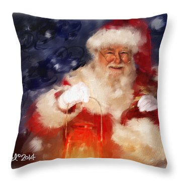Santa Is Comin' To Town Throw Pillow