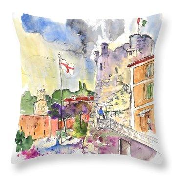 Santa Margherita In Italy 07 Throw Pillow by Miki De Goodaboom