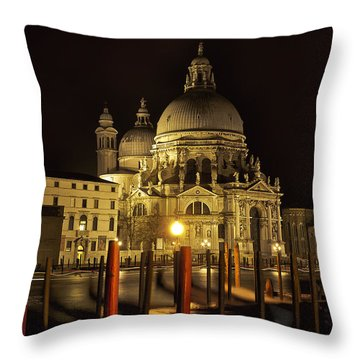 Throw Pillow featuring the photograph Santa Maria Della Salute by Marion Galt