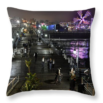 Throw Pillow featuring the photograph Santa Monica by Gandz Photography