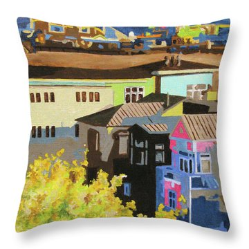 Santa Monica Throw Pillow by Nancie Johnson