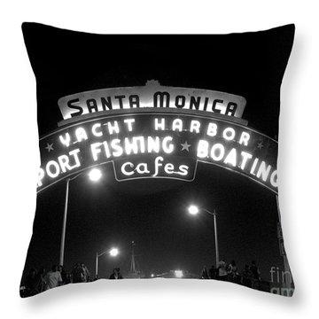 Santa Monica Pier 1 Throw Pillow