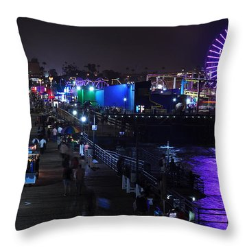 Santa Monica Pier 5 Throw Pillow