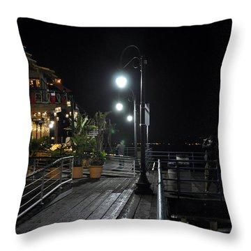 Santa Monica Pier Throw Pillow by Gandz Photography
