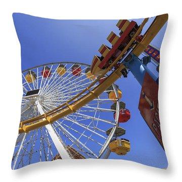 Santa Monica Pier Pacific Plunge Throw Pillow