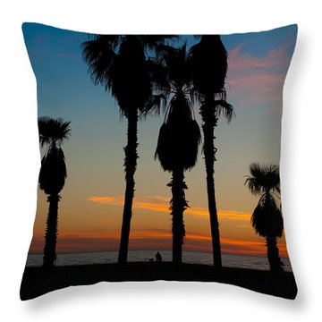 Santa Monica Sunset Throw Pillow