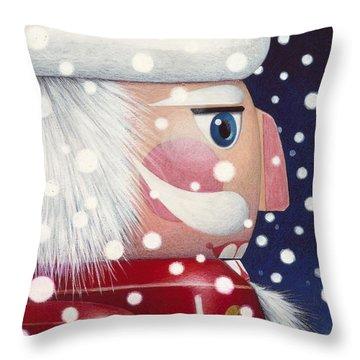 Santa Nutcracker Throw Pillow