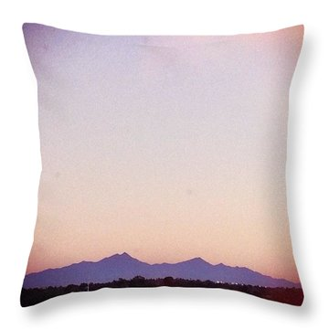 Santa Rita Mountains Throw Pillow